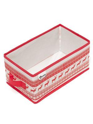 Малый ящик с ручкой Scandinavia Homsu. Цвет: красный