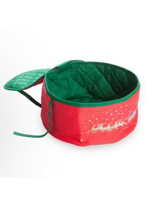 Новогодняя хлебница, Бедстефа Фрост, D25х11 Helgi Home. Цвет: зеленый, красный