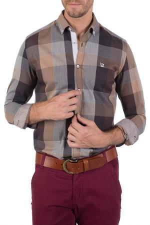 Рубашка GIORGIO DI MARE. Цвет: коричневый