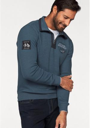 Пуловер MANS WORLD MAN'S. Цвет: синий/меланжевый
