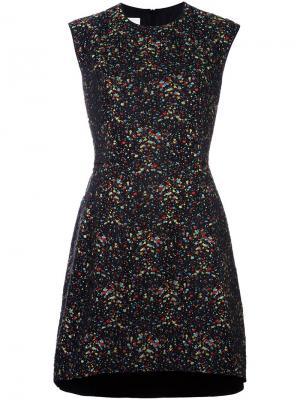 Расклешенное платье миди Akris Punto. Цвет: чёрный