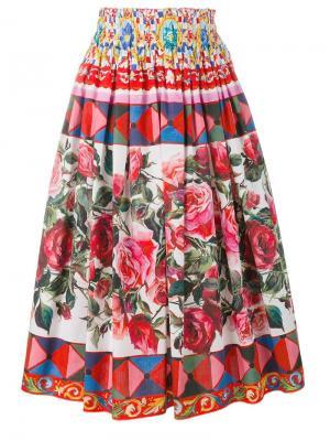 Плиссированная юбка с узором Mambo Dolce & Gabbana. Цвет: многоцветный
