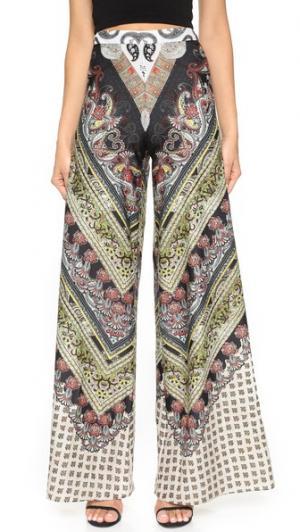 Расклешенные брюки Athena Super alice + olivia. Цвет: шевроны с узором «павлиний глаз»