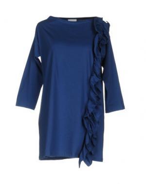 Короткое платье PINK BOW. Цвет: синий
