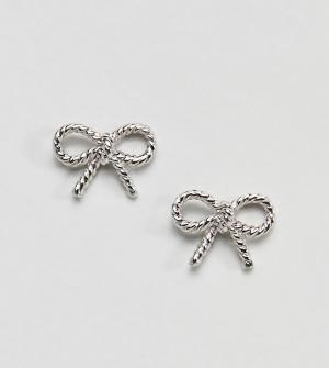 Olivia Burton Серебряные серьги в винтажном стиле. Цвет: серебряный