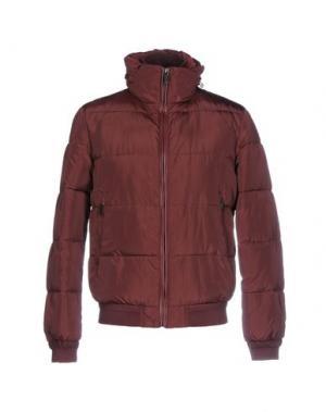 Куртка SSEINSE. Цвет: красно-коричневый