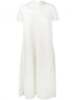 Декорированное платье Cecilia Emilia Wickstead. Цвет: белый