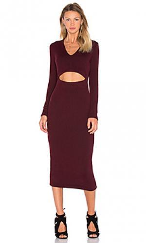 Макси платье hewitt VIVIAN CHAN. Цвет: вишня