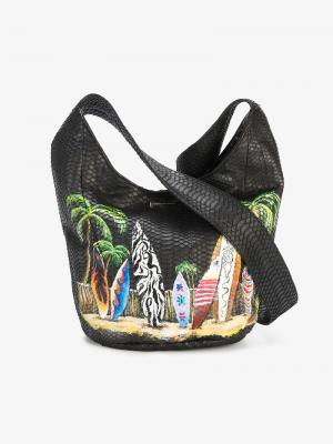 Сумка на плечо Malibu Surf Elisabeth Weinstock. Цвет: чёрный