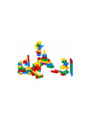 Конструктор 93 эл. в сумке ТИГРЕС. Цвет: желтый, синий, зеленый, фиолетовый, красный