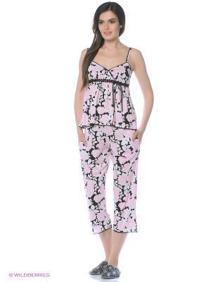 Пижама Eileen West. Цвет: черный, розовый