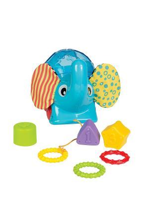 Сортер Слоник Playgro. Цвет: зеленый, голубой, красный