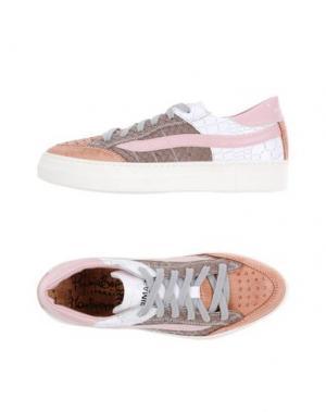 Низкие кеды и кроссовки PRIMABASE. Цвет: розовый