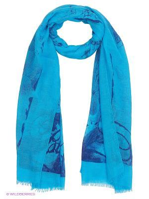 Платок Stilla s.r.l.. Цвет: голубой