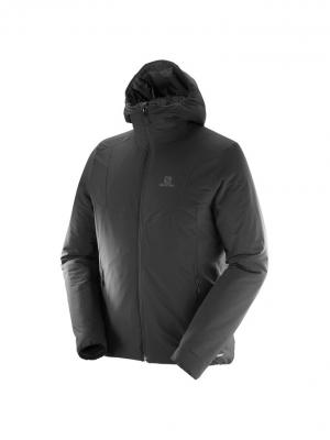 Куртка DRIFTER HOODIE M Black/Forged Iron SALOMON. Цвет: черный