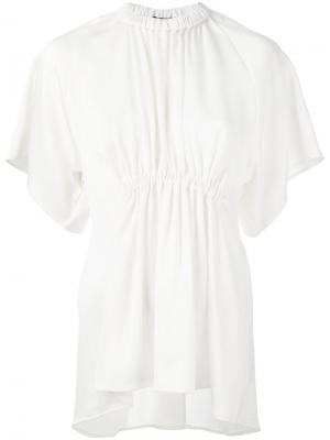 Блузка со сборками Ellery. Цвет: белый