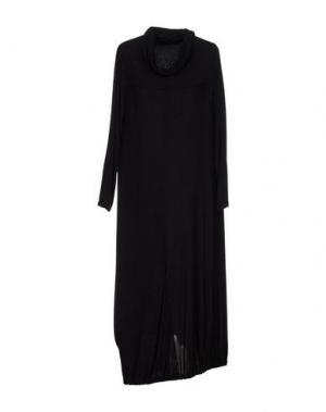 Платье до колена CORINNA CAON. Цвет: стальной серый