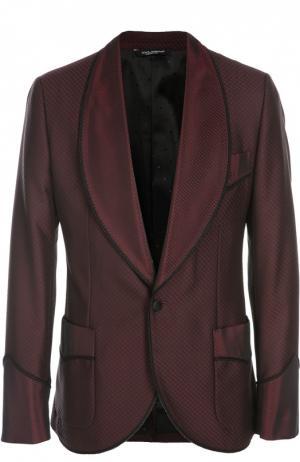 Вечерний пиджак Dolce & Gabbana. Цвет: бордовый