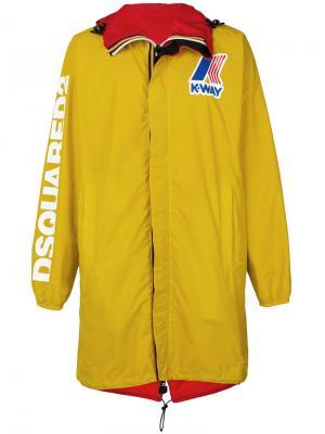 Двухсторонняя ветровка Dsquared2. Цвет: жёлтый и оранжевый