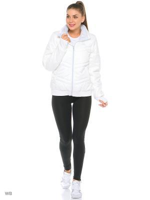Куртка Adidas. Цвет: белый