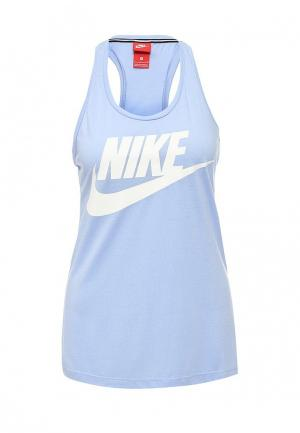Майка Nike. Цвет: голубой