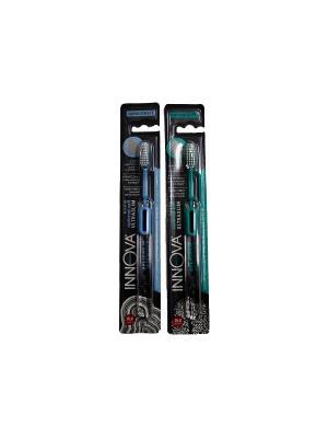 Splat набор зубна щетка innova деликатна с ионами серебра (Щетка син + зелена). Цвет: синий, зеленый