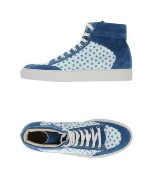 Высокие кеды и кроссовки ALBERTO MORETTI. Цвет: пастельно-синий