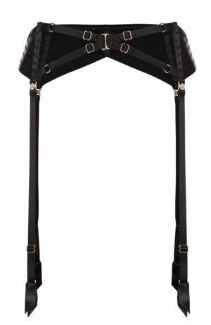 Пояс для чулок с декоративной отделкой Bordelle. Цвет: черный