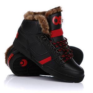 Кеды кроссовки утепленные  Nyc 83 Shr Black/Red/Black Osiris. Цвет: черный