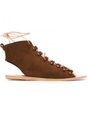 Сандалии Mache Ancient Greek Sandals. Цвет: коричневый