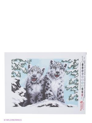 Рисунок на канве Белоснежные барсы Матренин Посад. Цвет: белый, серый