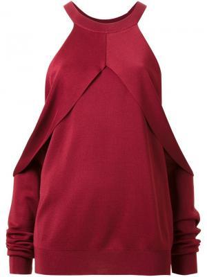 Свитер с открытыми плечами Dion Lee. Цвет: красный