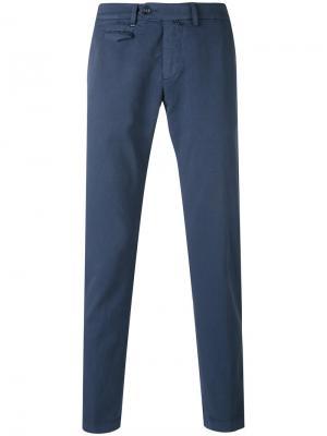 Flap pocket trousers Re-Hash. Цвет: синий