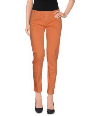 Повседневные брюки TRUE NYC.. Цвет: оранжевый