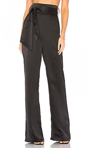 Шелковые брюки flavanor Misha Collection. Цвет: черный