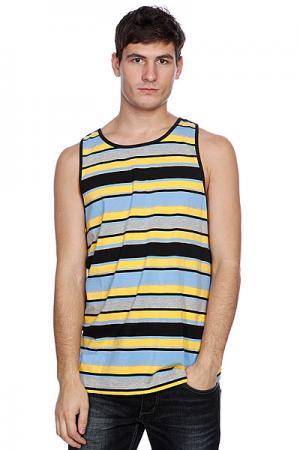 Майка Klift Alko Black/Yellow Клифт. Цвет: голубой,желтый,розовый,черный