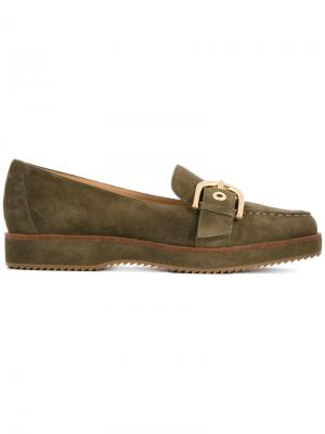 Loafers with buckle Michael Kors. Цвет: зелёный