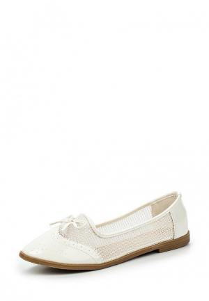 Балетки WS Shoes. Цвет: белый