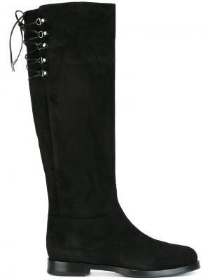 Сапоги со шнуровкой Le Silla. Цвет: чёрный
