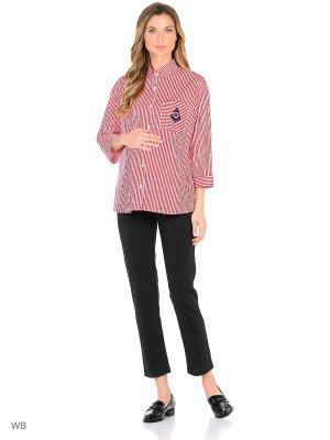 Рубашка week by. Цвет: красный, белый