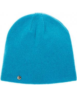 Голубая шерстяная шапка Canoe. Цвет: голубой