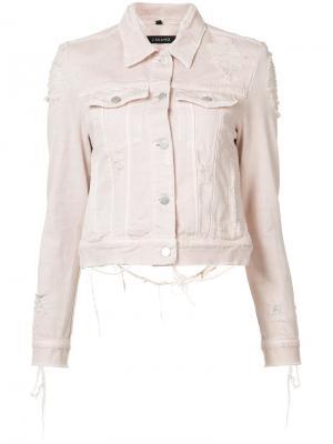 Джинсовая куртка Harlow J Brand. Цвет: розовый и фиолетовый