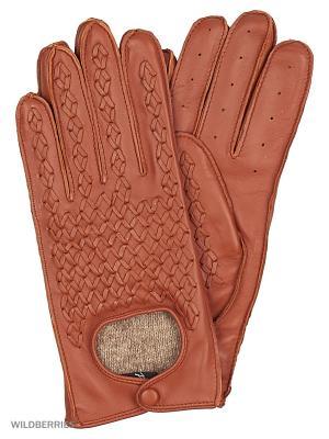 Перчатки женские Marco Bonne`. Цвет: светло-коричневый