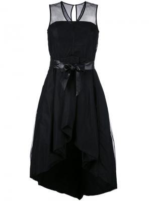 Платье с застежкой-завязкой Federica Tosi. Цвет: чёрный