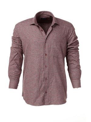 Рубашка BAWER. Цвет: серый, коричневый