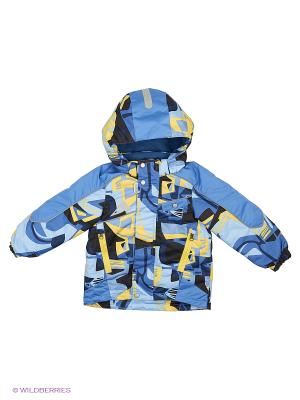 Куртка Oldos. Цвет: синий, желтый