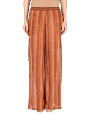 Повседневные брюки DEVOTION. Цвет: ржаво-коричневый