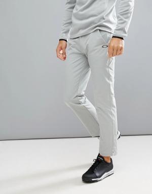 Oakley Светло-серые брюки классического кроя Golf Take. Цвет: серый