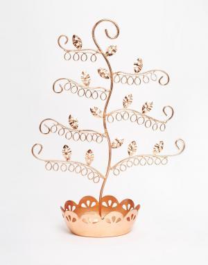 Sass & Belle Медная подставка для украшений в форме цветка. Цвет: мульти