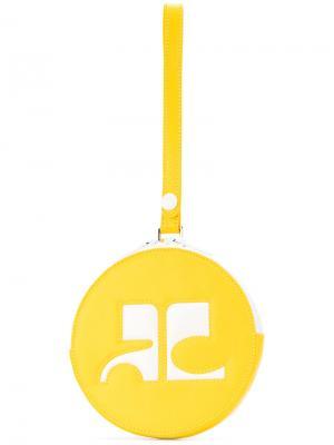 Круглый клатч Courrèges. Цвет: жёлтый и оранжевый